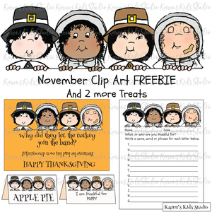 FREE Clip Art of the Month November