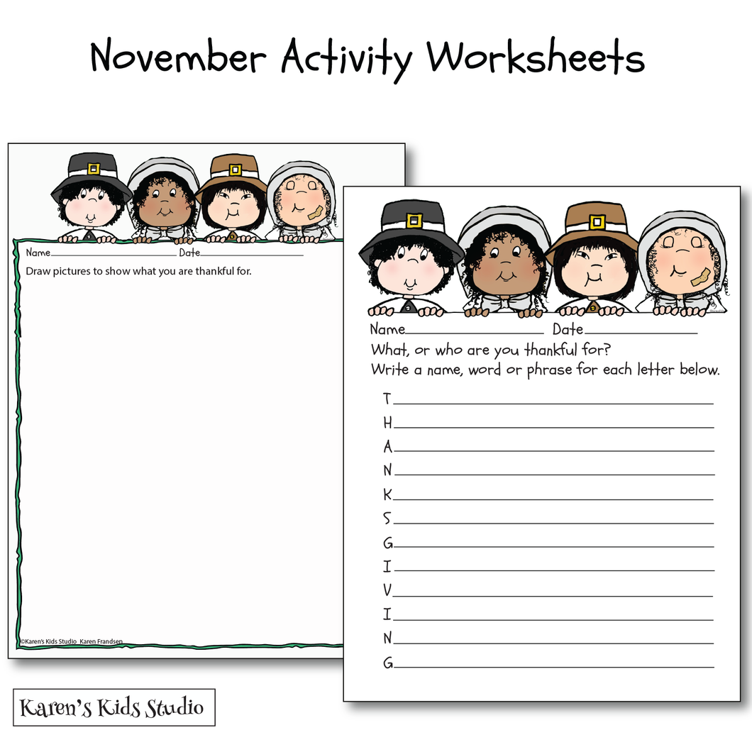 November Activity Worksheets