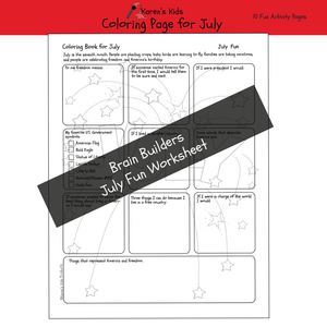 Free JULY THINGS COLORING BOOK Sample