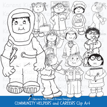 Load image into Gallery viewer, Community helpers clip art