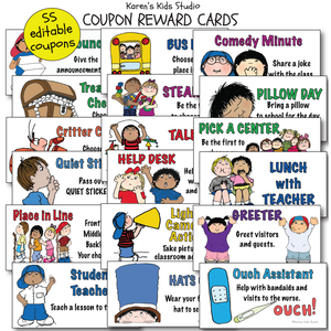 REWARD COUPONS FOR KIDS Editable