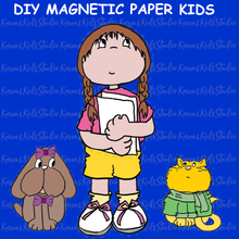 Load image into Gallery viewer, DIY Back to School Magnetic Paper Doll Kids