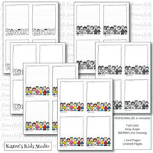 Load image into Gallery viewer, Notepads to Personalize( Little Guys Design) (Karen's Kids Editable Printables)