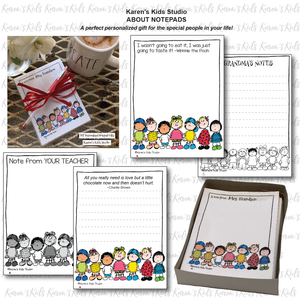 Notepads to Personalize( Little Guys Design) (Karen's Kids Editable Printables)