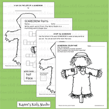 Load image into Gallery viewer, Make a Scarecrow Activity (Karen's Kids Printables)