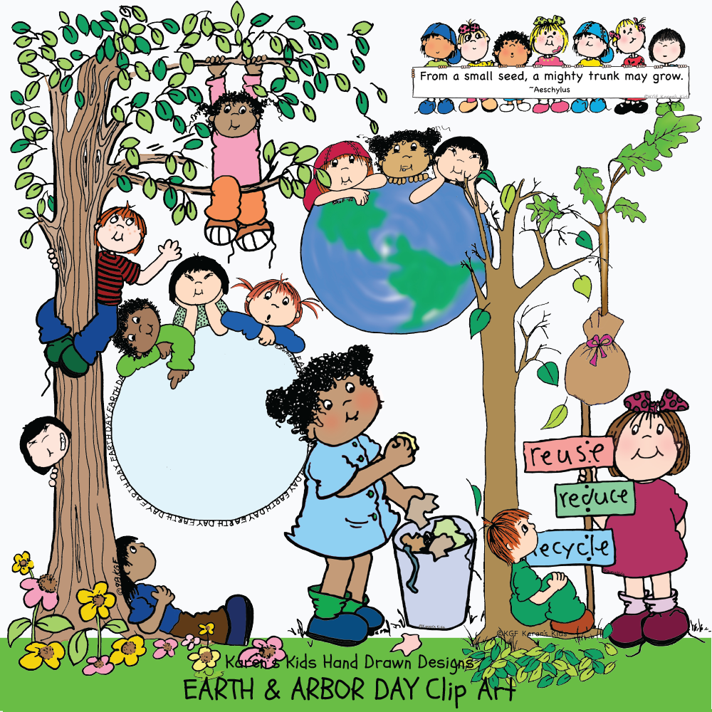 Earth Day Arbor Day clip art