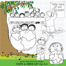 Load image into Gallery viewer, Earth Day Arbor Day clip art