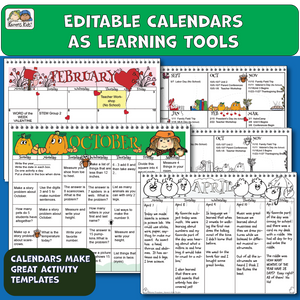 Samples of calendars and how they can be used as learning tools.