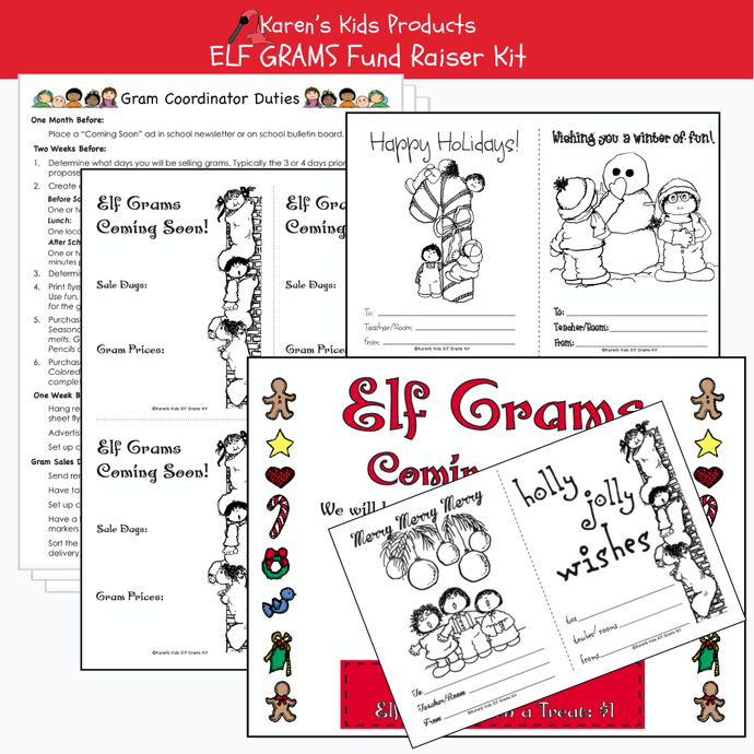 Elf Gram Fundraiser kit for schools and organizations