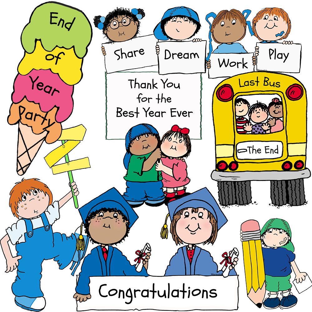 Clip Art End of Year Kids
