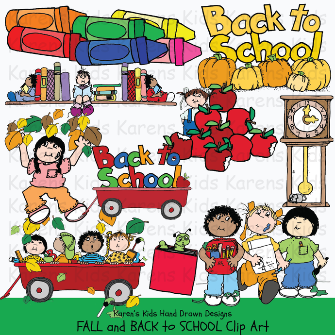 Clip art for fall and back to school