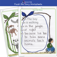 Load image into Gallery viewer, FINISH the STORIES  Printables All Year Topics K-1