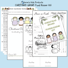 Load image into Gallery viewer, Fundraiser Kits ANGEL_CHRISTMAS GRAMS Editable Printables
