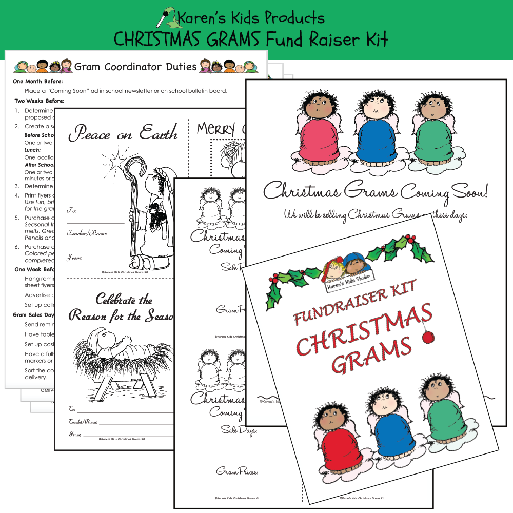 Fundraiser Kits CHRISTMAS GRAMS (2 sets) Editable Printables