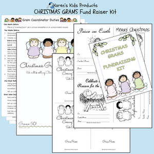 Fundraiser Kits ANGEL_CHRISTMAS GRAMS Editable Printables