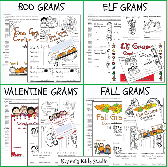 BIG BUNDLE 6 Set Fundraiser GRAMS Bundle (Karen's Kids Printables)