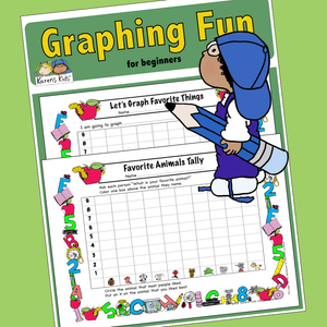 GRAPHING for BEGINNERS 2 Worksheets (Karen's Kids Printables