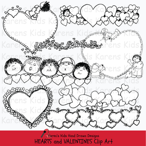 Hearts and valentine clip art
