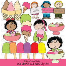 Load image into Gallery viewer, Clip Art Ice Cream and Kids