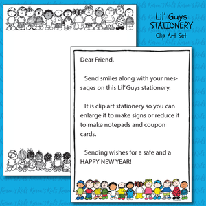 Karen's Kids clipart stationery