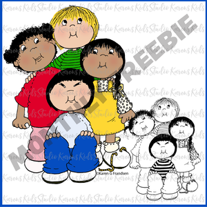 Clipart FREEBIE for May (Karen's Kids Clipart)