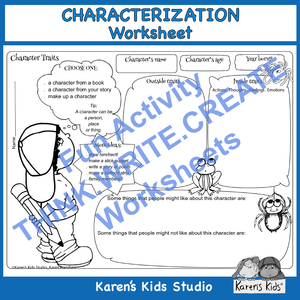 Characterization Worksheet (New product introductory offer)