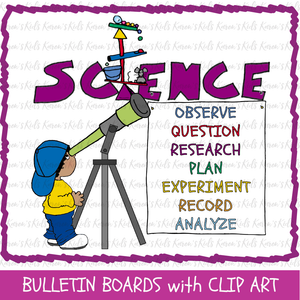 SCIENCE KIDS CLIP ART (NEW Product Introductory Sale)