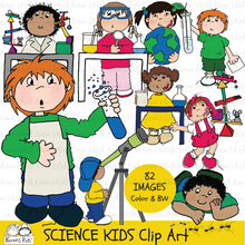 Load image into Gallery viewer, SCIENCE KIDS CLIP ART (NEW Product Introductory Sale)