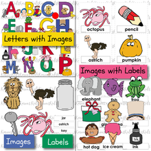 Load image into Gallery viewer, 338 ALPHABET SKILLS KIT Ready-to-Use LETTER RECOGNITION / SOUNDS /  ALPHABET CARDS (Karen's Kids Printables)