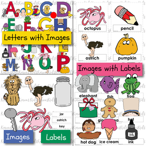 338 ALPHABET SKILLS KIT Ready-to-Use LETTER RECOGNITION / SOUNDS /  ALPHABET CARDS (Karen's Kids Printables)