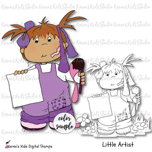 Digital Stamp Little Artist
