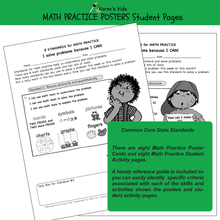 Load image into Gallery viewer, BULLETIN BOARD Math Practice Posters student worksheet samples.