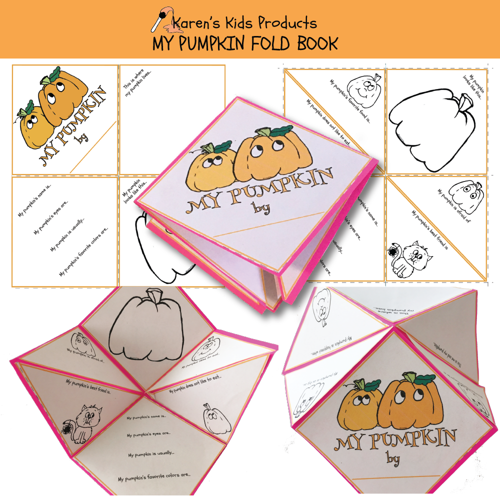 PUMPKIN FOLD BOOK (Karen's Kids Printables)