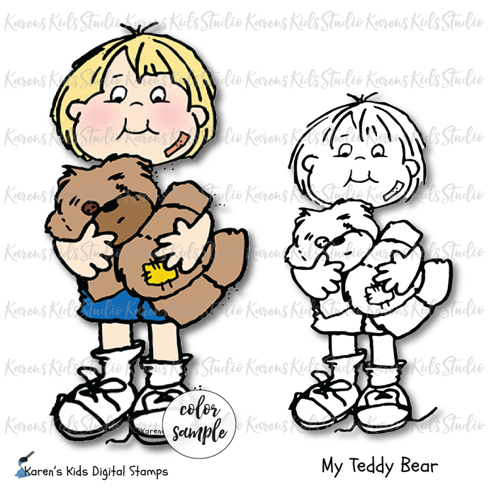 Digital Stamp My Teddy Bear