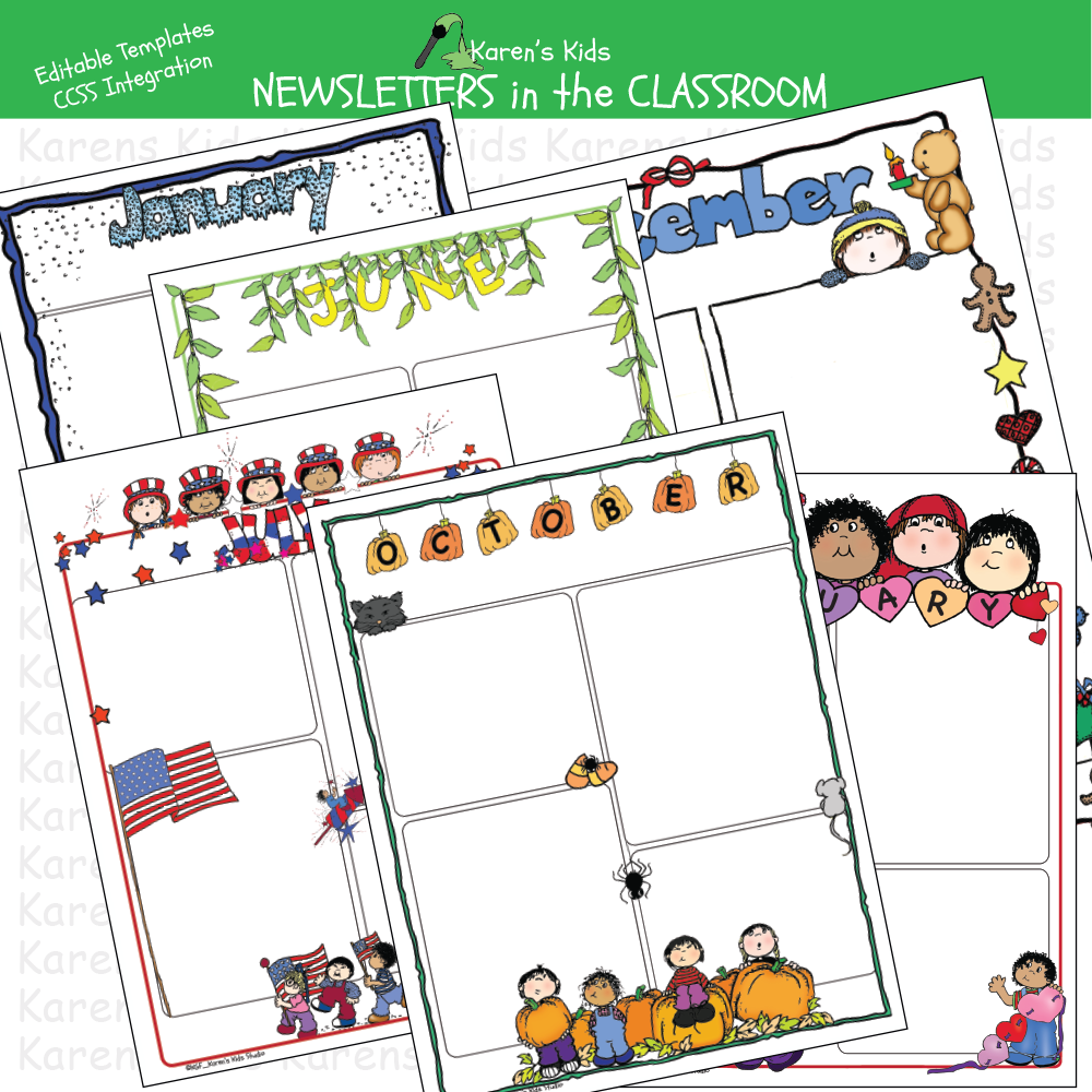 Newspapers in the classroom printables