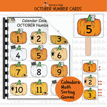 Load image into Gallery viewer, CALENDAR Number Cards Ready to Use PLUS Clipart (Karen's Kids Studio)