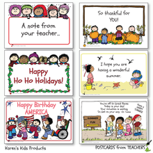 Load image into Gallery viewer, Postcards from Teachers 2_Editable Ready to Print