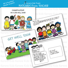 Load image into Gallery viewer, POSTCARDS FROM TEACHER Editable Printables