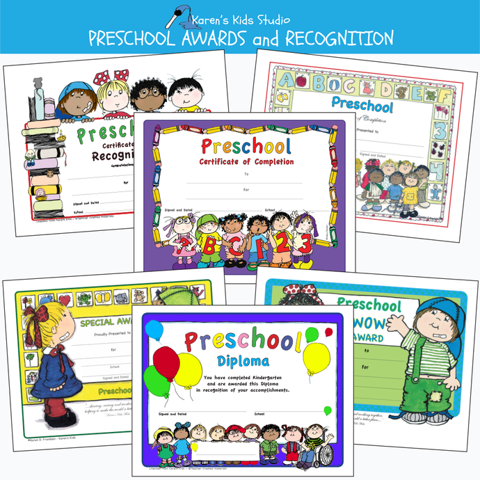 Preschool awards and recognition