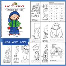 Load image into Gallery viewer, Kindergarten Read Write Color Book (Karen's Kids Printables)