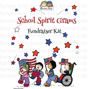 Fundraiser Kit SCHOOL SPIRIT GRAMS (Karen's Kids Editable Printables)