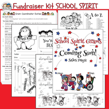 Load image into Gallery viewer, Fundraiser Kit SCHOOL SPIRIT GRAMS (Karen's Kids Editable Printables)