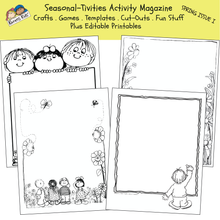 Load image into Gallery viewer, ACTIVITY PRINTABLES for Spring Issue I (Karen's Kids Print and Use)