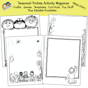 ACTIVITY PRINTABLES for Spring Issue I (Karen's Kids Print and Use)
