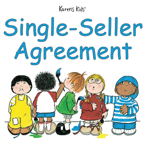 Single-Seller Agreement images with 5 kids painting the title.