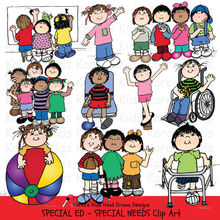 Load image into Gallery viewer, Clip Art Special Ed & Special Needs Kids (Karen's Kids Clipart)