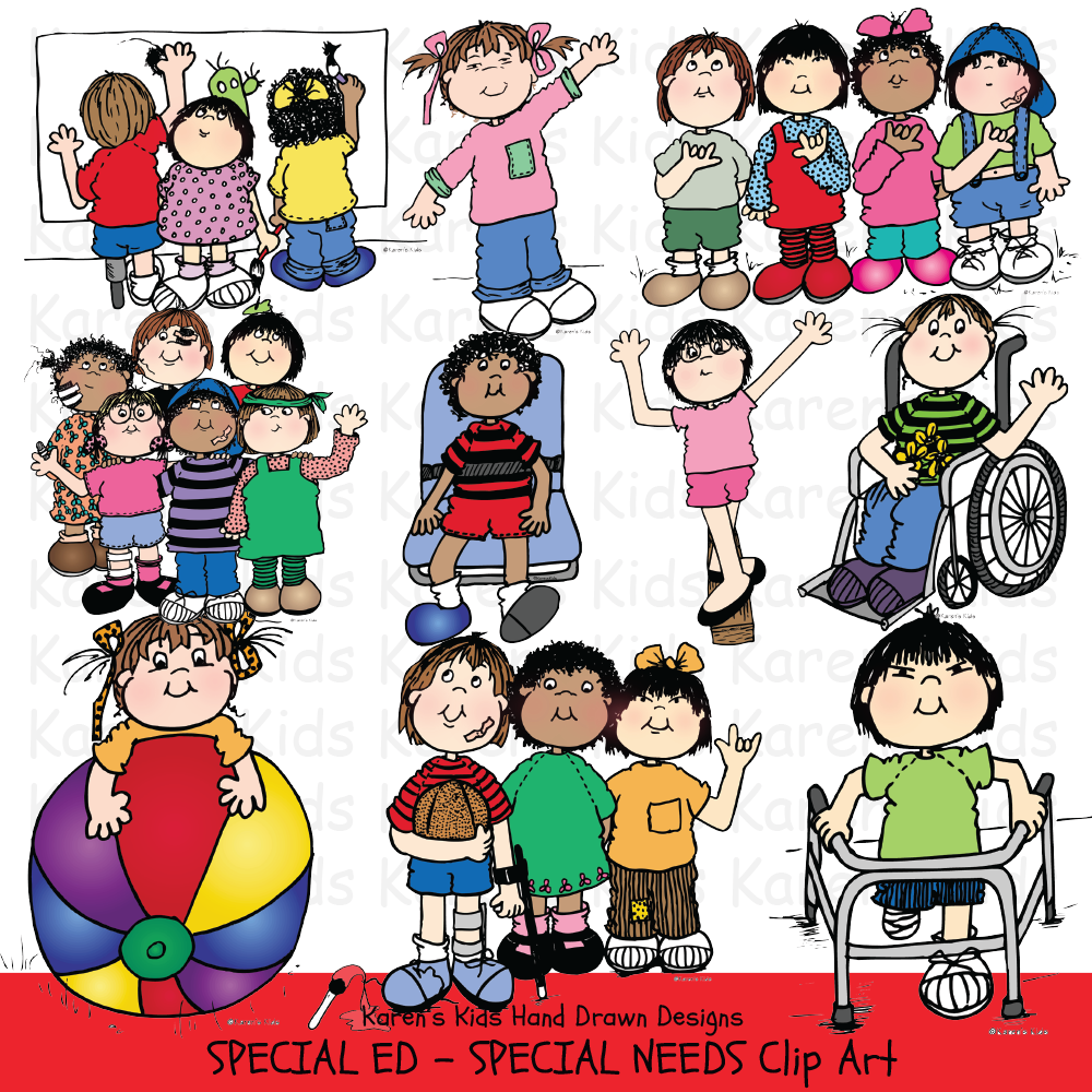Clip Art Special Ed & Special Needs Kids
