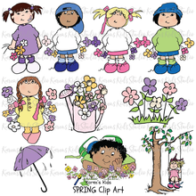 Load image into Gallery viewer, Clip Art Spring Kids