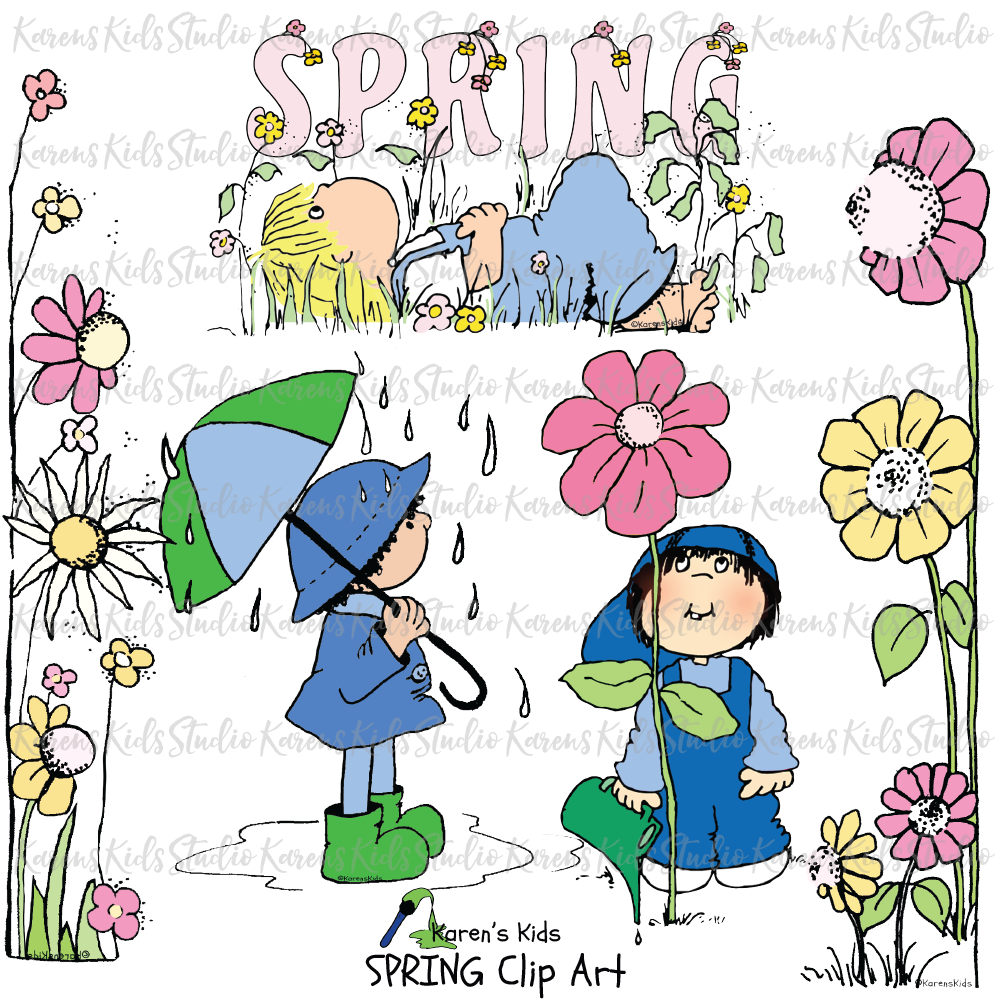 Clip Art Spring and Kids
