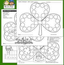 Load image into Gallery viewer, Samples of games kids can play in March: 4 game boards, record tally page, invent your own game board and directions.